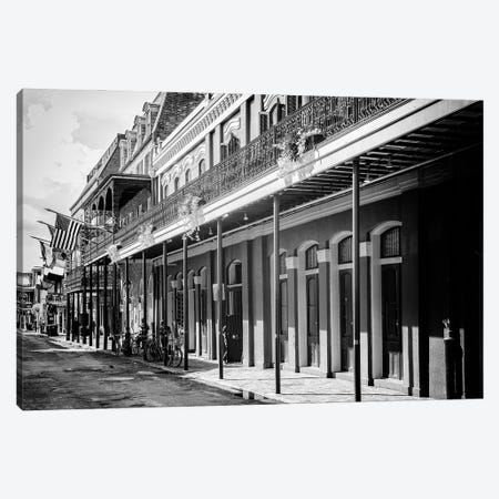 Black NOLA Series - Old Traditional Facades Canvas Print #PHD1993} by Philippe Hugonnard Canvas Art Print