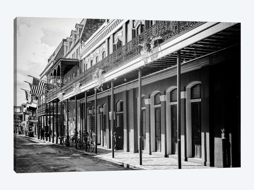 Black NOLA Series - Old Traditional Facades by Philippe Hugonnard 1-piece Canvas Art