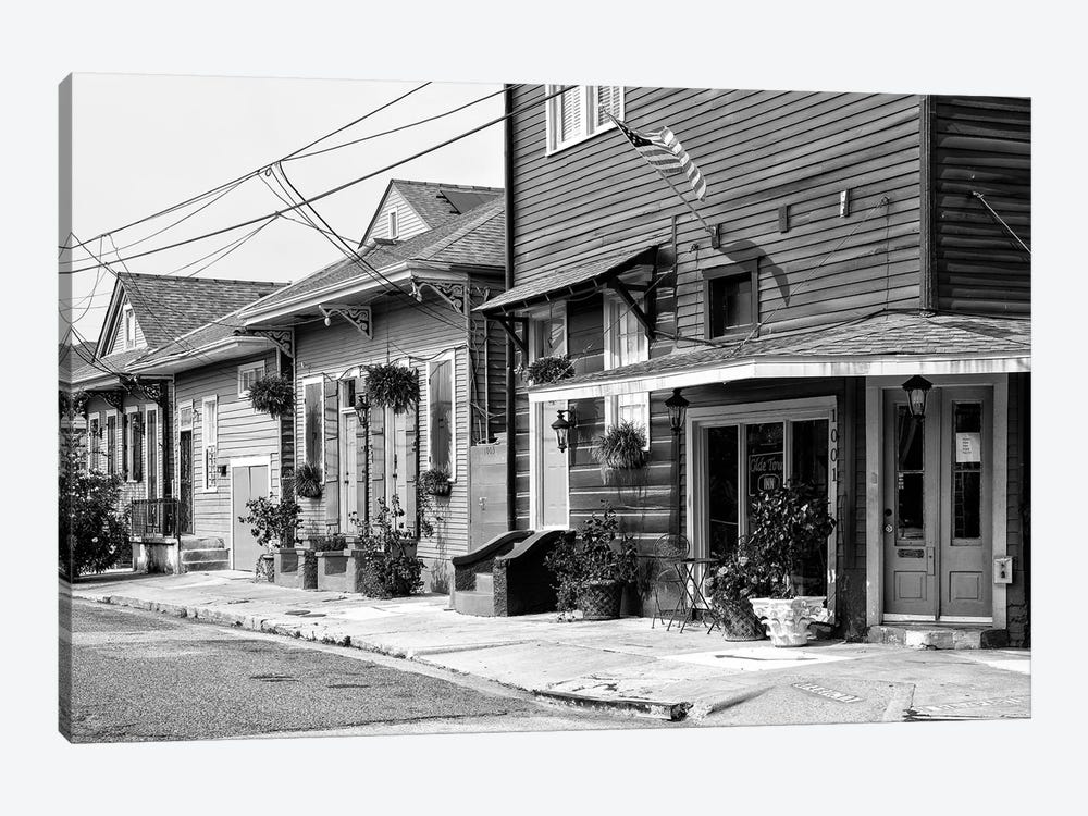 Black NOLA Series - Faubourg Marigny New Orleans by Philippe Hugonnard 1-piece Canvas Artwork