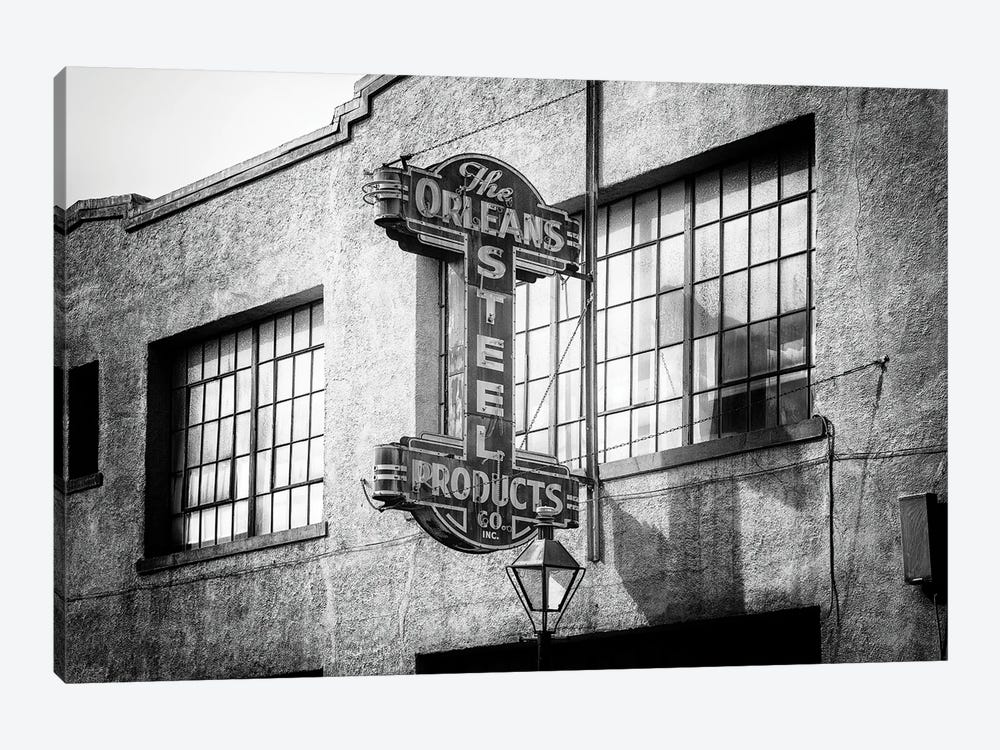 Black NOLA Series - The Orleans Steel Sign by Philippe Hugonnard 1-piece Canvas Art Print