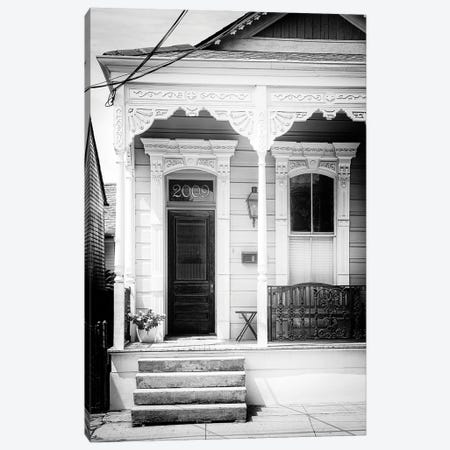 Black NOLA Series - 2009 Shotgun House Canvas Print #PHD1999} by Philippe Hugonnard Canvas Art Print