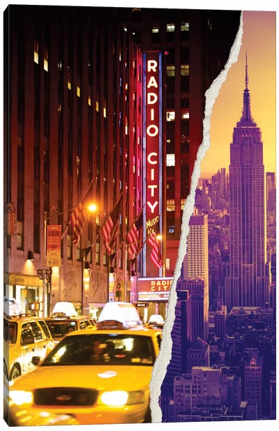 Dual Torn Series - Manhattan Buildings Canvas Art Print