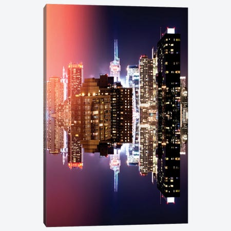Double Sided - Manhattan Buildings Canvas Print #PHD1} by Philippe Hugonnard Canvas Art