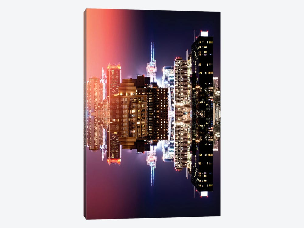 Double Sided - Manhattan Buildings by Philippe Hugonnard 1-piece Canvas Art Print