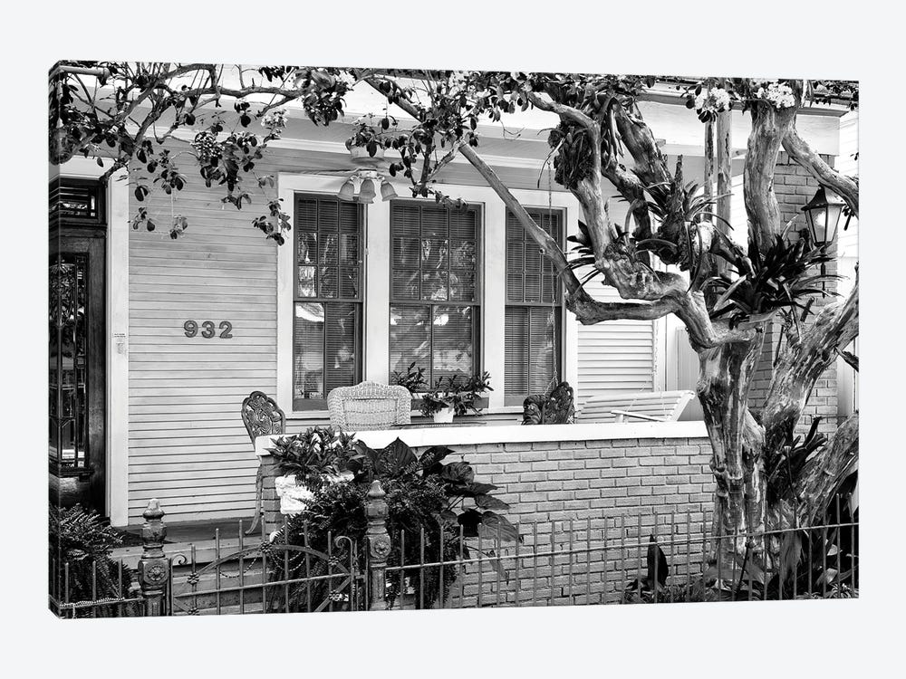 Black NOLA Series - Beautiful New Orleans Facade by Philippe Hugonnard 1-piece Canvas Print