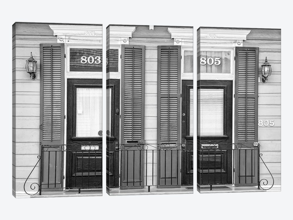 Black NOLA Series - Symmetry by Philippe Hugonnard 3-piece Canvas Art