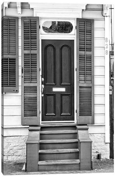 Black NOLA Series - Historic Doors French Quarter Canvas Art Print