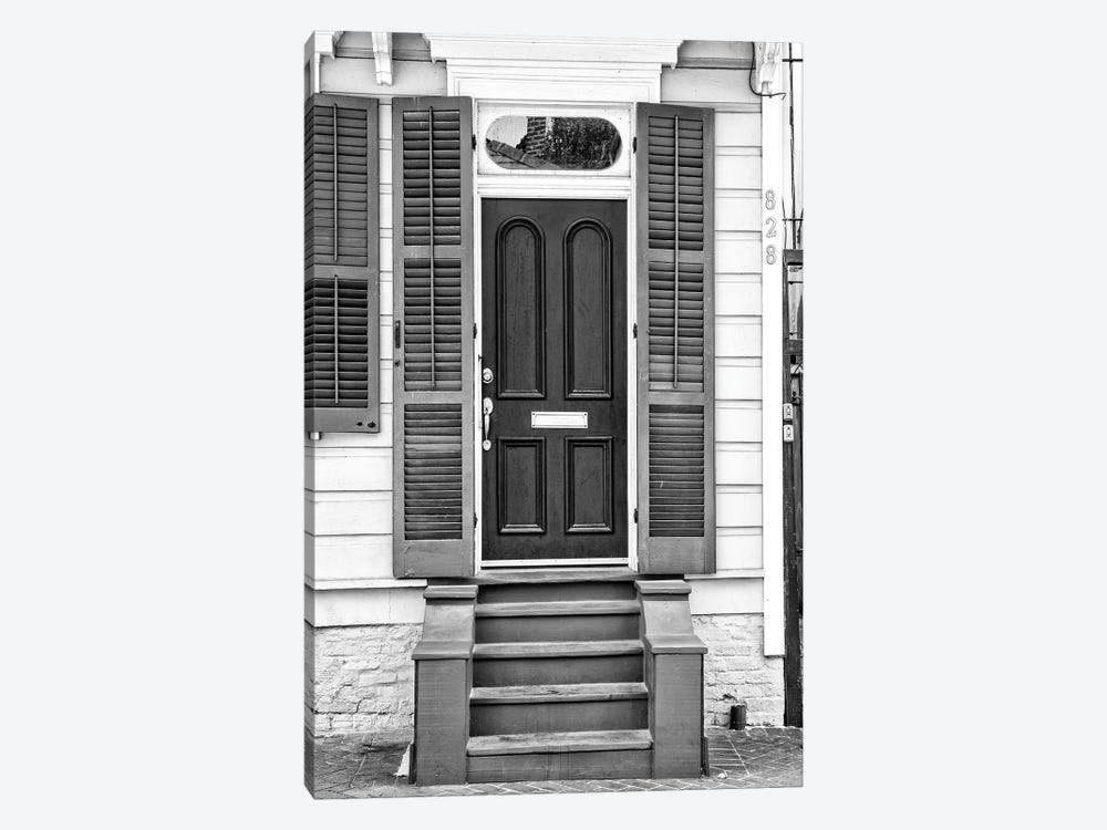 Black NOLA Series - Historic Doors French Quarter by Philippe Hugonnard 1-piece Canvas Wall Art