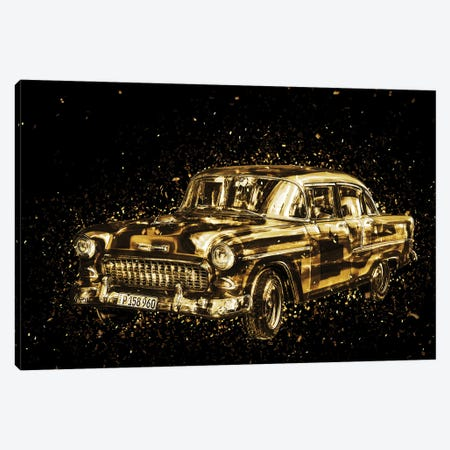Golden - Classic Car Canvas Print #PHD2009} by Philippe Hugonnard Canvas Art Print