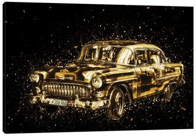 Golden - Classic Car Canvas Art Print