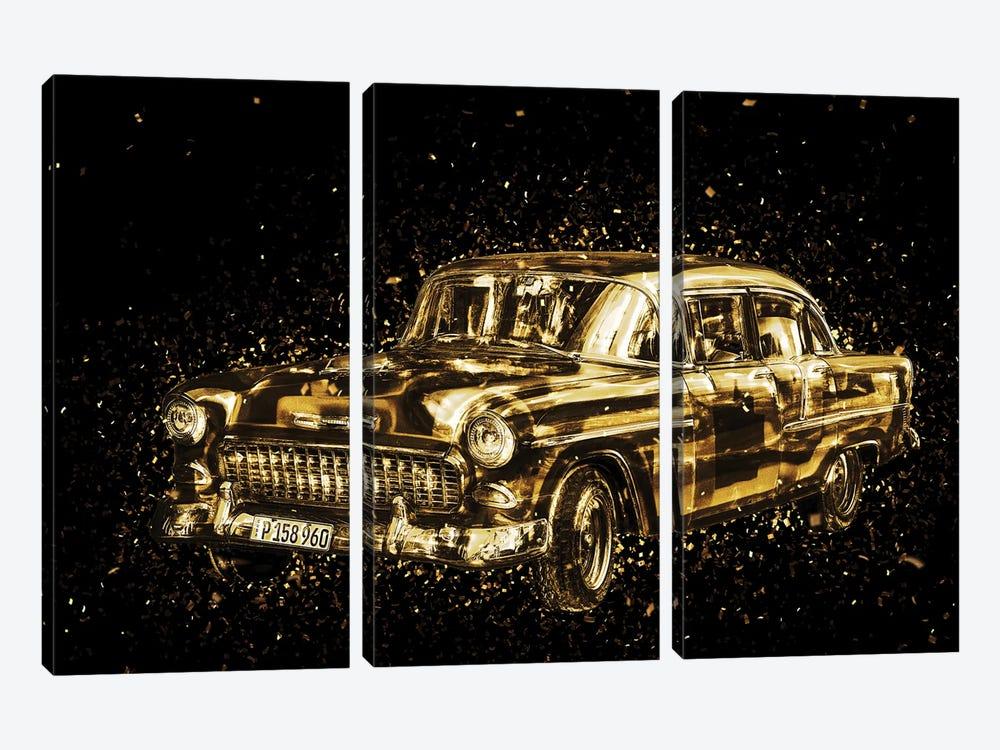 Golden - Classic Car by Philippe Hugonnard 3-piece Art Print