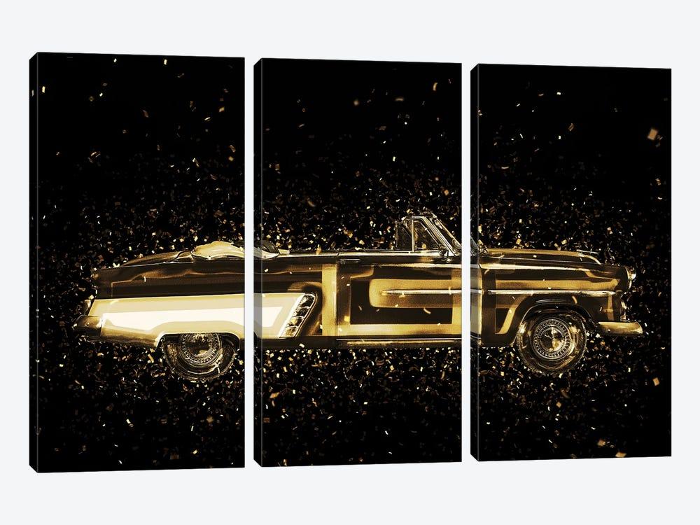 Golden - Vintage Car by Philippe Hugonnard 3-piece Art Print