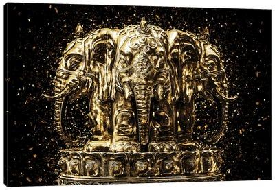 Golden - Elephants Buddha Canvas Art Print