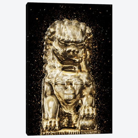 Golden - Buddha Lion Canvas Print #PHD2014} by Philippe Hugonnard Art Print