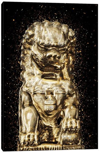 Golden - Buddha Lion Canvas Art Print