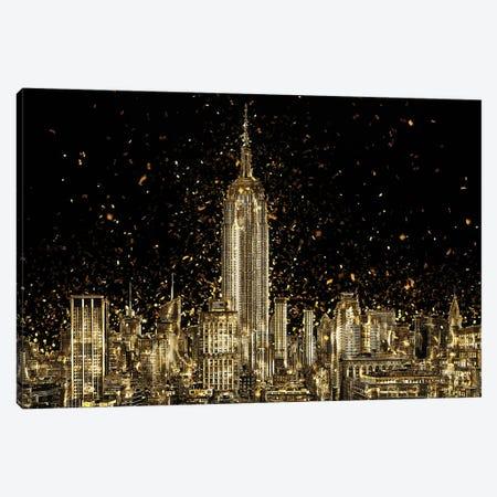 Golden - Manhattan Skyline Canvas Print #PHD2019} by Philippe Hugonnard Canvas Artwork