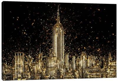 Golden - Manhattan Skyline Canvas Art Print