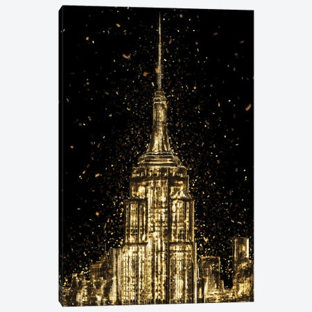 Golden - The Empire State Building Canvas Print #PHD2020} by Philippe Hugonnard Canvas Print