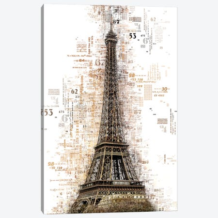Numbers Collection - Paris Eiffel Canvas Print #PHD2021} by Philippe Hugonnard Art Print