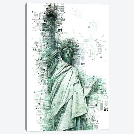Numbers Collection - New York Liberty Canvas Print #PHD2022} by Philippe Hugonnard Canvas Print