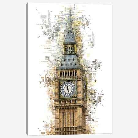 Numbers Collection - London Big Ben Canvas Print #PHD2023} by Philippe Hugonnard Canvas Print