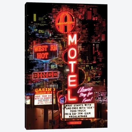 Numbers Collection - Las Vegas Bingo Motel Canvas Print #PHD2025} by Philippe Hugonnard Canvas Art