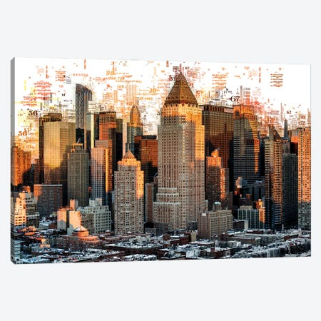 Numbers Collection - New York Builldings Canvas Print #PHD2029} by Philippe Hugonnard Canvas Print