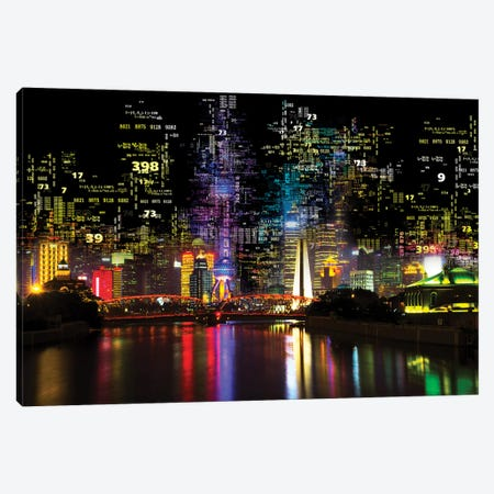 Numbers Collection - Shanghai Night Canvas Print #PHD2030} by Philippe Hugonnard Canvas Artwork