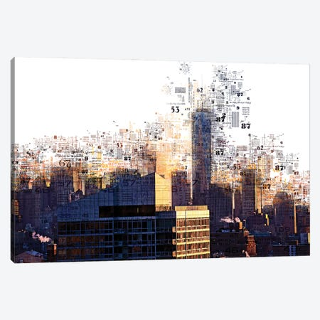 Numbers Collection - Ny Skyscrapers Canvas Print #PHD2031} by Philippe Hugonnard Canvas Wall Art