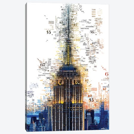Numbers Collection - Empire State Canvas Print #PHD2035} by Philippe Hugonnard Canvas Print