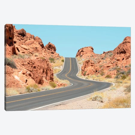 American West - Valley Of Fire Canvas Print #PHD2063} by Philippe Hugonnard Art Print