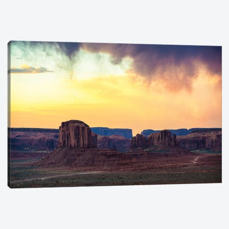 American West - Magnificent Monument Valley Canvas Print #PHD2072} by Philippe Hugonnard Canvas Artwork