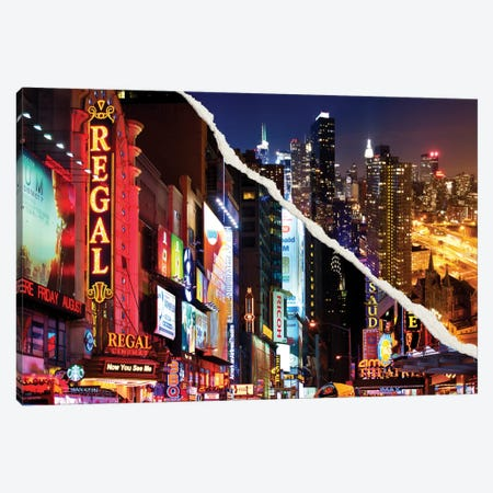 Manhattan Night Canvas Print #PHD20} by Philippe Hugonnard Canvas Wall Art