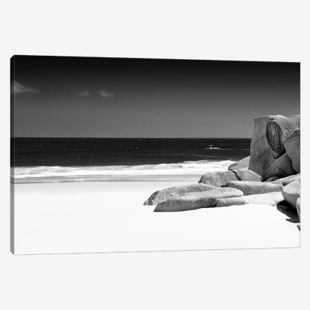 Tranquil White Sand Beach Canvas Print #PHD214} by Philippe Hugonnard Canvas Artwork
