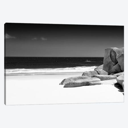 Tranquil White Sand Beach Canvas Print #PHD214} by Philippe Hugonnard Canvas Artwork