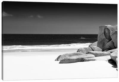 Tranquil White Sand Beach Canvas Art Print
