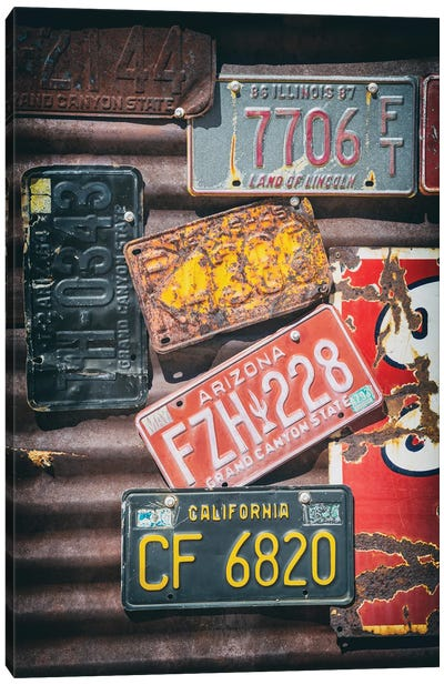 American West - License Plates Canvas Art Print