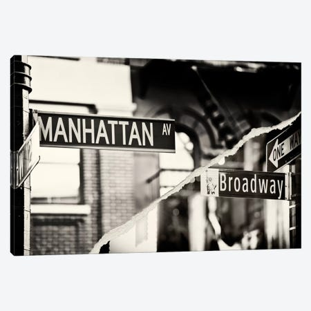 Manhattan Signs Canvas Print #PHD21} by Philippe Hugonnard Canvas Art