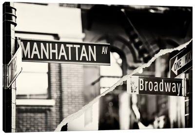 Manhattan Signs Canvas Art Print