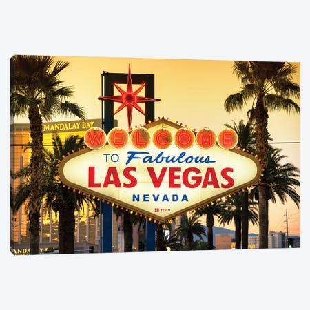 American West - Vegas Sunset Canvas Print #PHD2205} by Philippe Hugonnard Canvas Wall Art