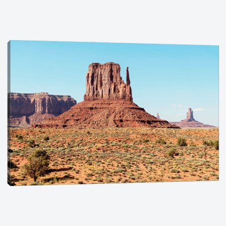 American West - West Mitten Butte Canvas Print #PHD2271} by Philippe Hugonnard Canvas Wall Art