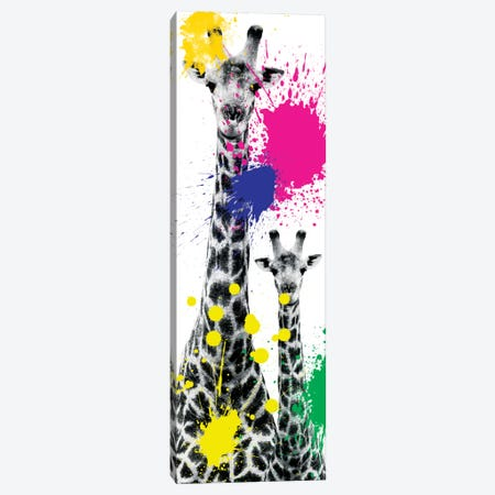 Giraffes III Canvas Print #PHD234} by Philippe Hugonnard Canvas Wall Art