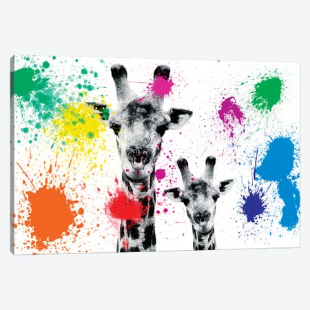 Giraffes Portrait Canvas Print #PHD235} by Philippe Hugonnard Canvas Art
