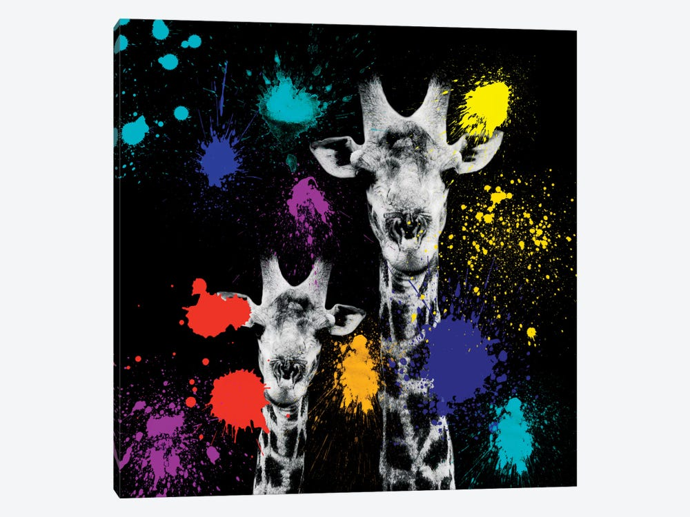 Giraffes Portrait VI 1-piece Canvas Wall Art