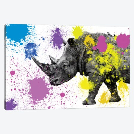 Rhino  Canvas Print #PHD237} by Philippe Hugonnard Canvas Wall Art