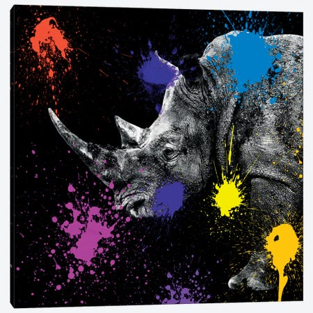 Rhino Portrait Canvas Print #PHD238} by Philippe Hugonnard Canvas Print