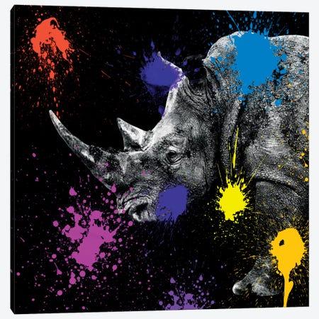 Rhino Portrait Canvas Print #PHD238} by Philippe Hugonnard Canvas Print