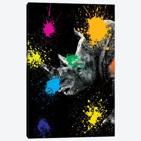 Rhino Portrait III Canvas Print #PHD240} by Philippe Hugonnard Canvas Artwork