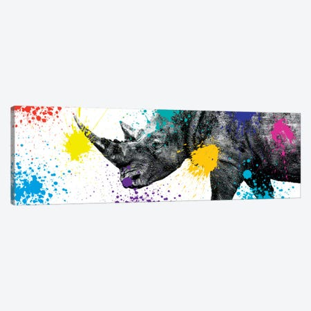 Rhino Portrait V Canvas Print #PHD241} by Philippe Hugonnard Canvas Artwork