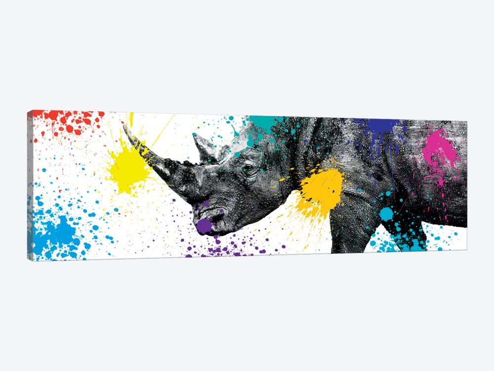 Safari Color Pop Series: Rhino Portrait V by Philippe Hugonnard 1-piece Canvas Artwork